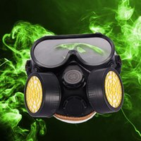 Wholesale Industrial Gas Chemical Anti Dust Paint Respirator Mask Glasses Goggles Set MTY3