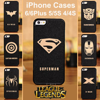 Wholesale iPhone Case Cool PC Hard Case For iPhone S League of Legends Super Hero Shell For iPhone inch iPhone Plus S Free DHL