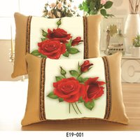 chinese furniture antique - Embroidered with Chinese characteristics Cross Stitch pillow sets of flowers single pillow sets of furniture gifts