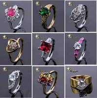 Wholesale Hundreds of styles new Christmas party prom gemstone ring silver plated rings stainlessGemstone Rings Engagement Ring