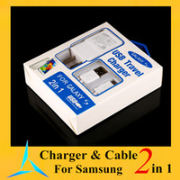 plug-in - 2 in charger kits A mA US EU plug Home Wall Chargers MINI USB Adapter MICRO USB DATA Charger CABLE For SAMSUNG