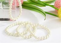 beaded bridesmaid jewelry - Pearl Bracelet Strands Beaded Jewelry Stretch Bracelets Bridesmaid Gifts Vintage Love Bracelets