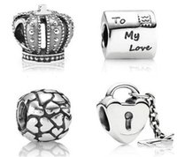 Wholesale Hot High Quality silver charms loose beads Fit European DIY Charm Bracelet Mixed order