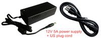 Wholesale V5A AC DC Adapter Power supply V A Adaptor with US plug cord