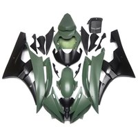aftermarket sportbike fairings - Fairings For Yamaha YZF600 R6 YZF R6 Sportbike ABS Motorcycle Fairing Kit Bodywork Aftermarket Cowlings Army Green Black New