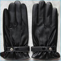 leather winter gloves - Retail Men s Leather Screen Touch Gloves For Iphone Ipad HTC Man s Winter Touch Gloves winter leather gloves