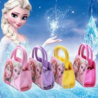 Wholesale New Fashion Frozen Elsa Anna Mini Shoulder Bags Baby Girls Handbag Kids Messenger Bag Children School Bag