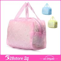 Wholesale Travel Transparent Waterproof Cosmetic Bag Wash Bag Wash Bath Toiletries Pouch