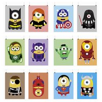 Wholesale Mild Art Anime Game Minions American Hero Set Custom DIY Cute Funny Pop Cartoon Movie Poster Print Kids Room Home Wall Decor Canvas Painting