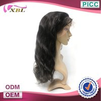 wigs and hair pieces - Hair Half Wig Real Human Hair Top Quality Free Shed And Tangle Natural Color One Piece A Body Wave Front Lace Wig