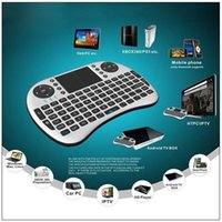 Cheap Fly Air Mouse Rii Mini i8 WIFI Wireless Mouse Pad Keyboard With Touchpad Remote Control Flymouse For Andriod TV BOX PC Free DHL FS001 10pcs