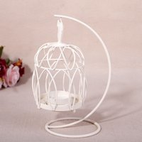 metal candle stand - Candlestick bird cage classic candlestick holders for wedding hollow out candler pricket white round iron artefact