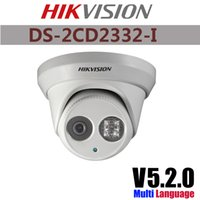 Wholesale Hikvision IP Camera DS CD2332 I MP high resolution p real time video mini dome Network Camera IR POE cctv camera mm lens