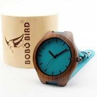 wood watch - 100 ebony Classic wood Watch Wooden Blue Casual Quartz Luxury Watches with scale For Men Women with gifts box Accept Customization OEM