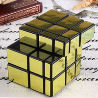 Wholesale Hot Sale New Third Order Gold Rubik Cube Mirror CM Alien Rubik s Cube Education Toys For Chrildren