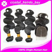Wholesale Remy Chinese hair unprocessed Chinese human hair weaves bundles hair with lace closure human hair guaranteed