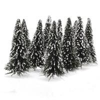 Wholesale 10pcs White Dark Green Scenery Landscape Model Cedar Trees cm Scale IN STOCK Nice Gift
