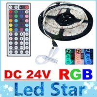 Wholesale Hot Sale RGB DC V Led Strips Light Waterproof IP65 High Bright Leds SMD M W Keys IR Remote Control