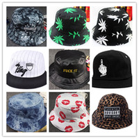 Wholesale 2016 New Fashion Bucket Hat Hip Hop Bob Bucket Hats unisex for men and women Chapeu Cap Bonnet Accessories