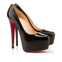 red bottoms heels - Latest stylish black so Victoria leather platform red bottom high heel pump