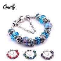 bulk european bead - European Pandora Murano Glass Beads Bracelet Jewelry Charms Shamballa Crystal Charms Beads Pandora Bangles Chains In Bulk