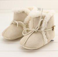 Wholesale 2COLOR Winter waist cotton leisure soft bottom baby warm boots years old newborn children slip bottom toddler boots pair cl