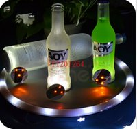 glass coasters - 500pcs LED Flashing Bottle Coaster Sticker For Wedding Drinks Glasses Night Club Party Decoration