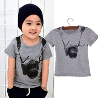 Wholesale Delicate Summer Style Cartoon Funny Camera Short Sleeve T Shirt Tees Clothes Jul8 Fast Shipping