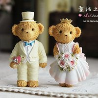 Wholesale Japan South Korea creative lovely cartoon bear Winnie the pastoral home accessories wedding absorbing resin refrigerator magnets