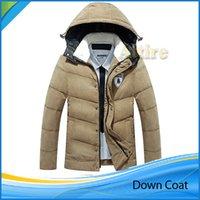 Nuevo llega el Invierno Hombre sudaderas con capucha de la ropa acolchados Puffer abrigo ropa de hombre Parka Outwear Caliente Abajo cubren