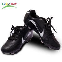 Cheap Wholesale-2015 Men Sports Soccer Shoes Autumn Men's Sport Shoe Sneaker Brand Black British AG Low Breathable Quality Free Shipping Sales