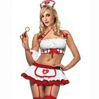 Wholesale 2015 new items Sexy Uniform Game Anime Costume Nurse Split Type Bikini Lingerie Set Role Playing Clothing H1436