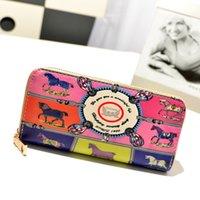 Wholesale 2014 new fashion circle printing wallets Long Wallet