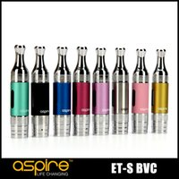 Wholesale 100 Original Aspire ET S BVC Atomizer ml bottom VERTICAL coil Clearomier for ego thread battery
