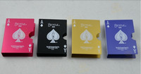 bicycle playing cards - Alloy Stainless Aluminium Metal Playing Card Clips holder case Bicycle style five color for choice Magic Accessories