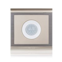 Wholesale Upscale Champagne Gold ON OFF Infrared PIR Motion Sensor Switch for LED Light Human Body Induction Save Energy Power Switch order lt no trac