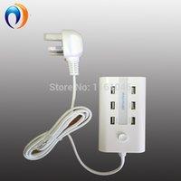 Usb port power surtension Avis-New1.5M USB Surge Protector UK Power Strip UE UA plug Multi-fuction 6 Port USB Wall Charger pour iPhone iPad Livraison gratuite