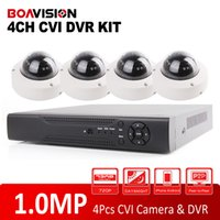 Wholesale 4CH P P HDCVI System Realtime Ch CVR MP Real time Recording DVR Kit Mini P HDCVI Outdoor Dome Cameras HDCVI CCTV System