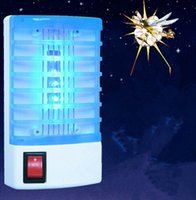 Wholesale LED Socket Electric Mosquito Fly Bug Insect Trap Night Lamp Killer Zapper