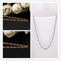 asian wave - High Quality Don t Fade Fashion K Gold Plated Chains Necklace Wave Chains for Pendant Fashion Jewelry For Valentine s Gift