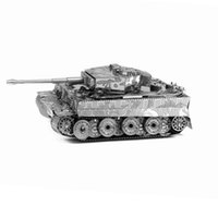 Wholesale 3D Metal Puzzles DIY Model Tiger Tank T34 tank Sherman tank Children Jigsaws Toys Present New Year Gift