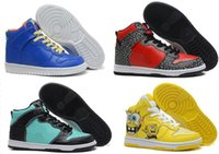 Chaussures de skateboard diamant dunk baskets hi la sortie de gros-pas cher mens et femmes en cuir de haute pro bouchon de prime pour la vente livraison gratuite
