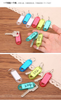 Wholesale Creative colored plastic key chain key ring digital card category cards key card key card number plate collection