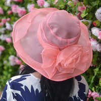 Wholesale 2016 For Women s Female Summer Ladies Wide Brim Beach summer hats for women new fashion outdoors cap sun collapsible anti uv hat