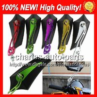 Wholesale 10 Pairs colors Motorcycle Chrome Mirror Rear view Mirrors Rearview side mirror Hand Mirror Rearview handlebar Mirrors No