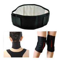 Wholesale self heating Back waist support Massage Belt neck guard belt knee pad set tourmaline Magnetic Therapy self heating belt