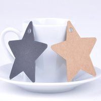 Wholesale 2015 Hot Sale set Star Kraft Paper Wedding Party Favor Price Gift Card Label Lage Tags Random Color X60 JJ0291W M2