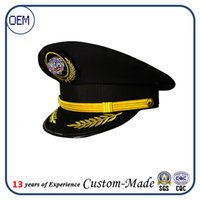 army officers hat - Adult Yacht Boat Ship Sailor Captain Costume Hat Cap army officer sailor navy captain hat