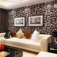 paper agent - Vintage D wallpaper modern pattern simulation stone restaurant TV backdrop wallpaper direct agent wallpapers roll D wall paper