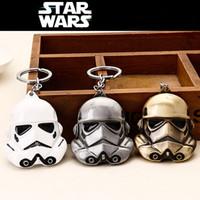 Wholesale Star Wars Key Chain Movies Accessories Star Wars Mask Key Chain Cartoon Three Colors Metal Keychain ZJ N05